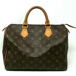 Authentic Louis Vuitton Speedy 30 Boston Bag